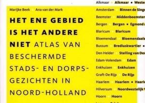 Atlas van beschermde stads- en dorpsgezichten in Noord-Holland