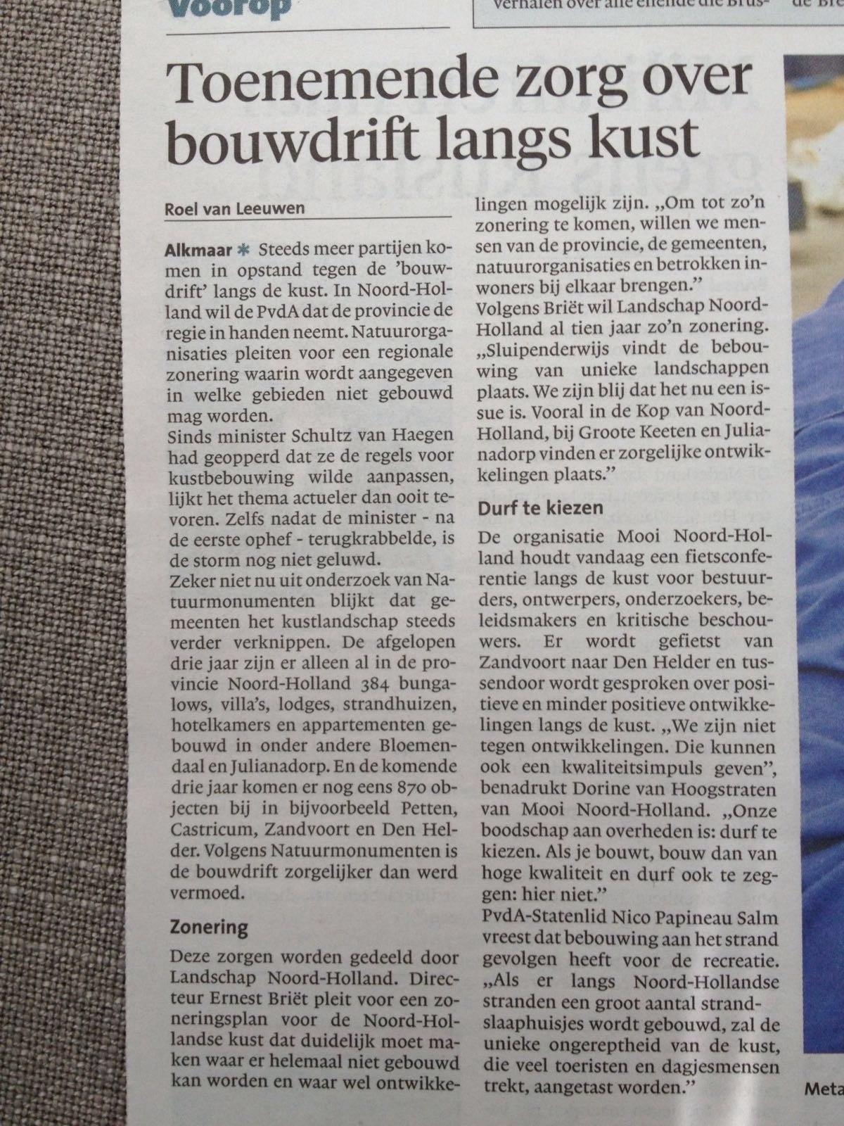 Noord-Hollands Dagblad 15 juni 2016