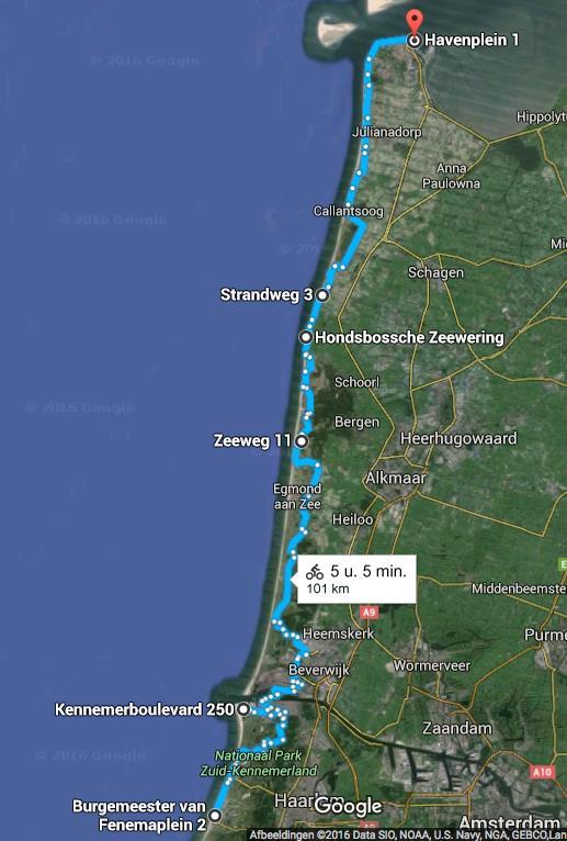 Route 15 juni 2016